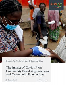 Covid-19 Series Report Examining Impact of COVID-19 on Community Based Foundations